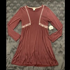 NWT Long Sleeve Burgundy Altard State Dress